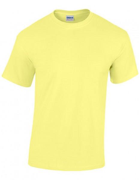 GILDAN Teavy CottonT-Shirt, cornsilk.