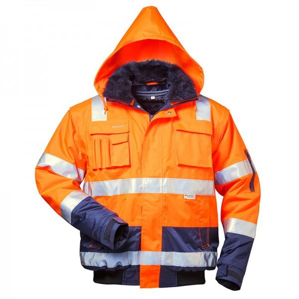 Warnschutz Pilotenjacke orange Schulterreflex