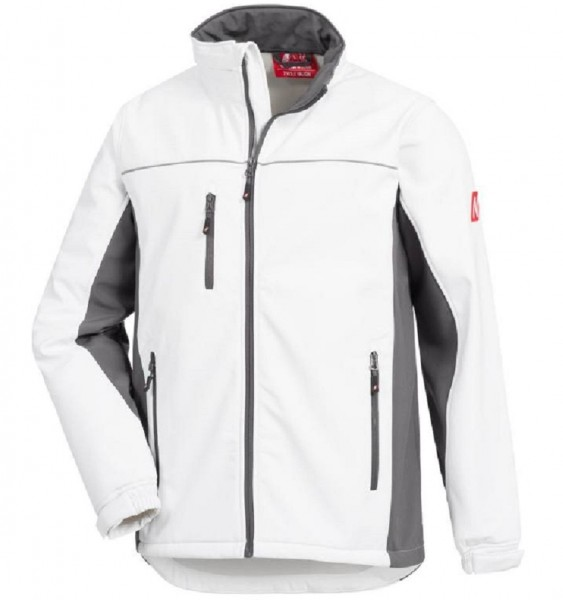 Softshelljacke MOTION TEX LIGHT, weiß/grau