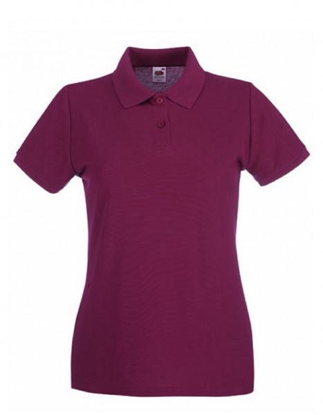 Damen Polo Lady-Fit: burgundy.