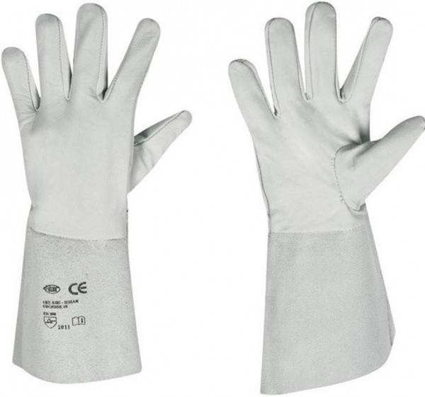 Nappaleder Handschuh mit Lederstulpe BIHAR.