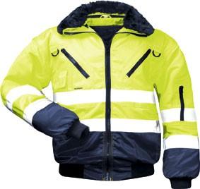 Warnschutzjacke GUNNAR gelb/marine