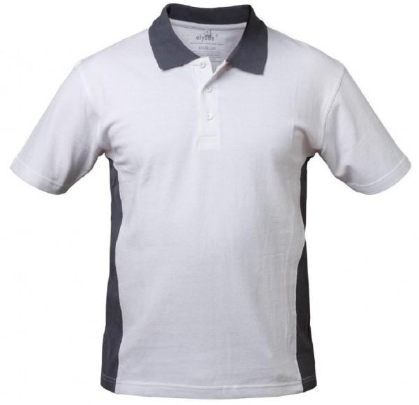 Polo Shirt weiß/grau CADIZ