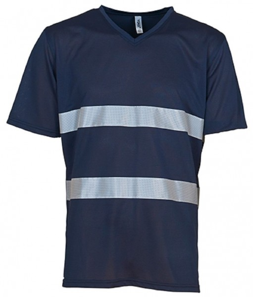 Hi Vis Top Cool Super Light V-Neck T-Shirt, navy