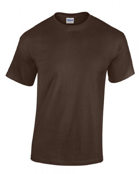 GILDAN Teavy CottonT-Shirt, dark-chocolate.