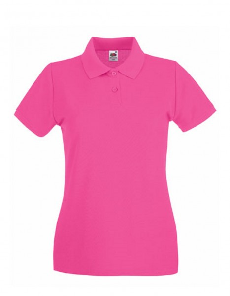 Damen Polo Lady-Fit: fuchsia.
