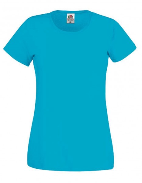 Damen T-Shirt Lady Fit: azure blue