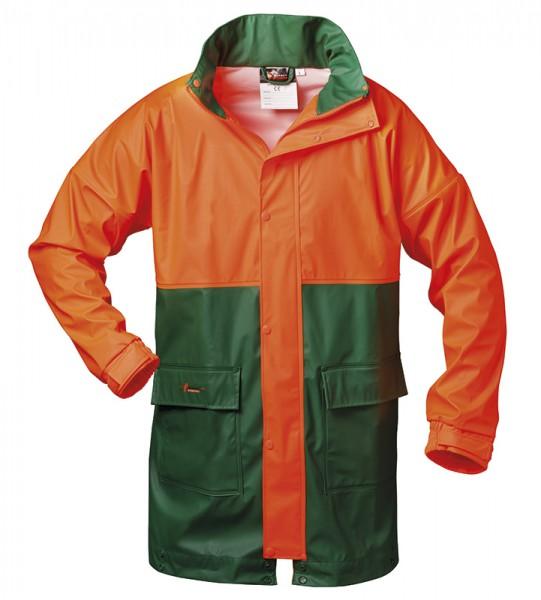 Atmungsaktive Regenjacke grün/orange PAPPEL
