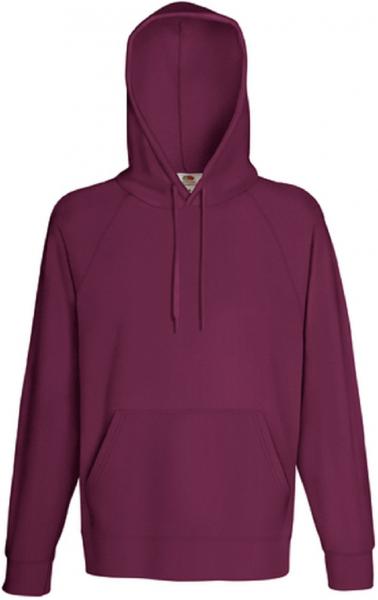 Lightweight Hooded Sweat, Burgundy