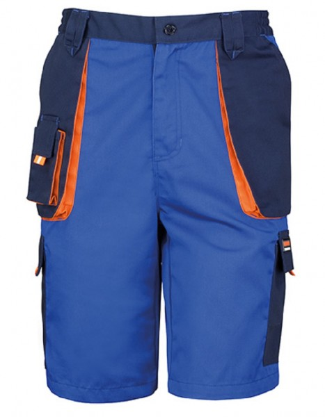 Work Guard Lite Shorts, royal/navy/orange.