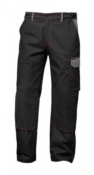 Twill Arbeits-Bundhose BRUGGE, schwarz/grau.