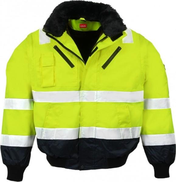 MultifunktionaleLeiKaTex Pilotenwarschutzjacke gelb/marineblau