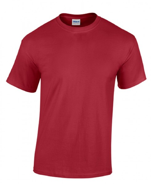 GILDAN Teavy CottonT-Shirt, cardinal-red.