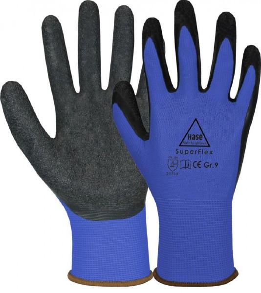 Arbeits-Feinstrickhandschuh SUPERFLEX, blau