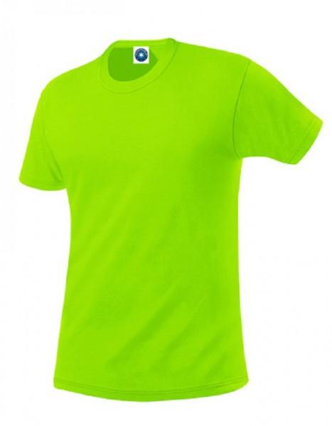 Performance T-Shirt mit UV-Schutz, floureszend green.