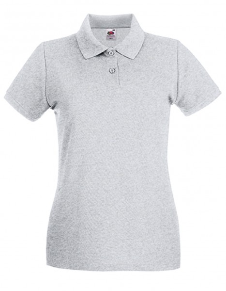 Damen Polo Lady-Fit: heather grey.