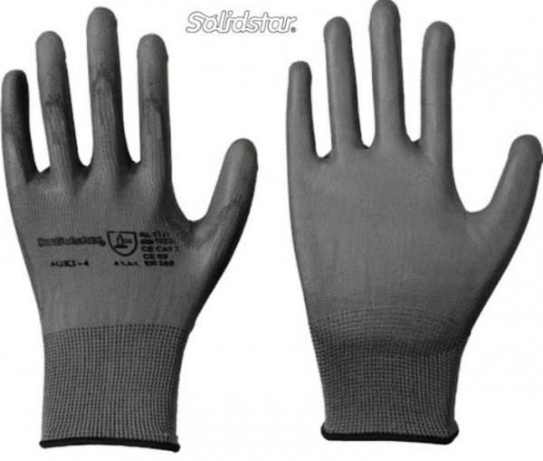 Sehr günstiger Montage Polyester Handschuh grau