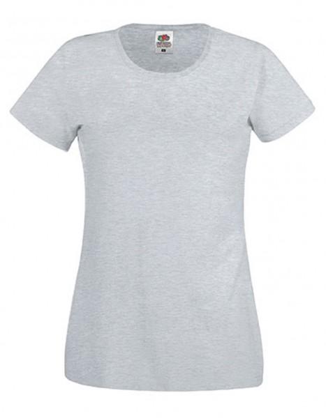 Damen T-Shirt Lady Fit: heather grey