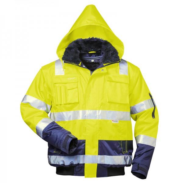 Warnschutz Pilotenjacke gelb Schulterreflex