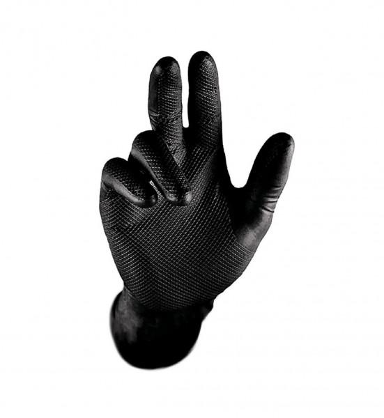 Einweghandschuh GRIP, schwarz.