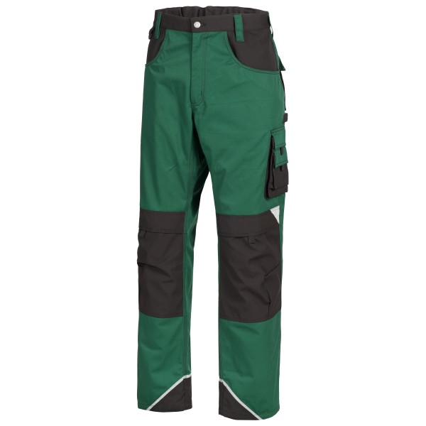 MOTION TEX PLUS Arbeitshose, grün/schwarz.