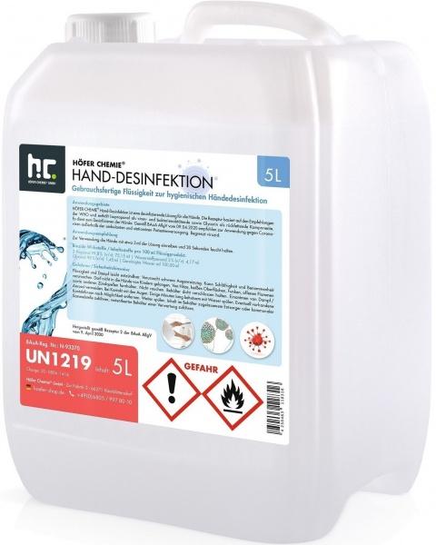 Händedesinfektionsmittel im 5 Liter-Kanister
