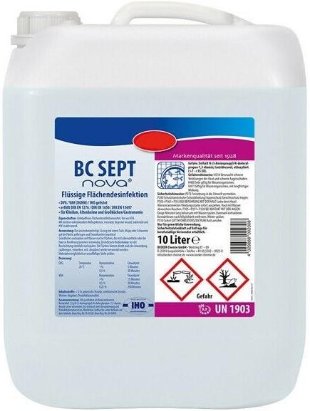 BC SEPT Flächen-Desinfektionsmittel, 10 Liter Kanister