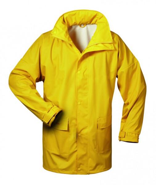 Atmungsaktive Regenjacke gelb