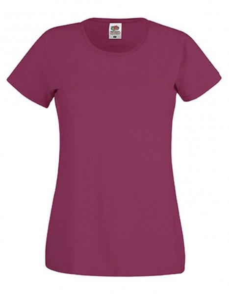 Damen T-Shirt Lady Fit: burgundy