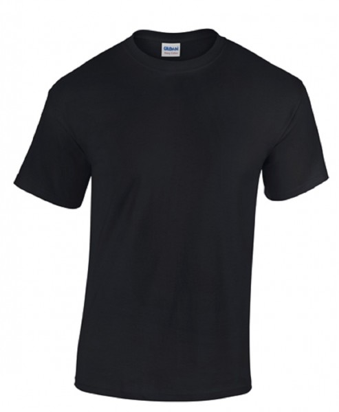GILDAN Teavy CottonT-Shirt, black.