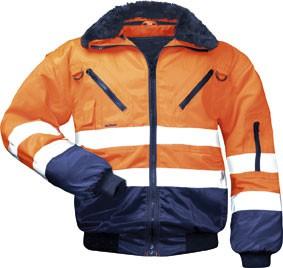 Warnschutzjacke ERIC orange/marine