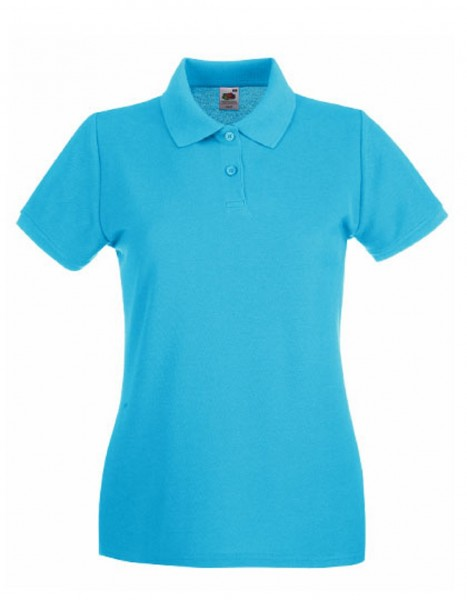 Damen Polo Lady-Fit: azure blue.