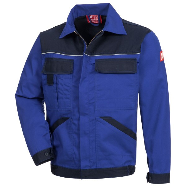 Arbeitzsjacke MOTION TEX LIGHT, hellblau/dunkelblau.