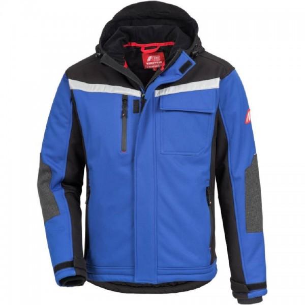 Winter Softshelljacke MOTION TEX PLUS, blau/schwarz