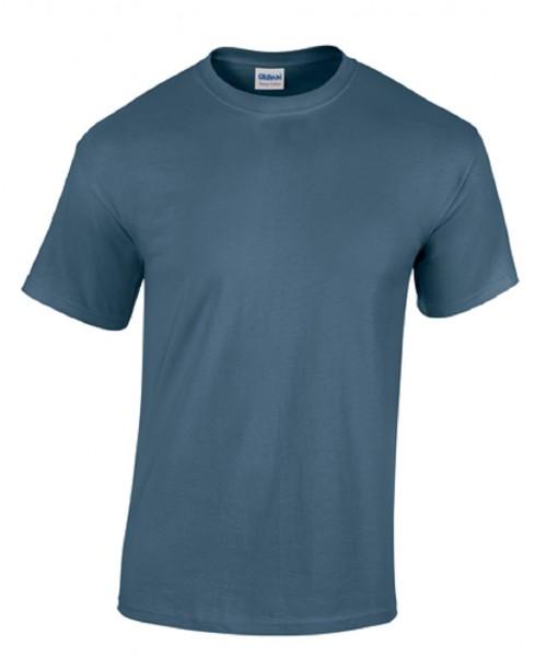 GILDAN Teavy CottonT-Shirt, indigo-blue.
