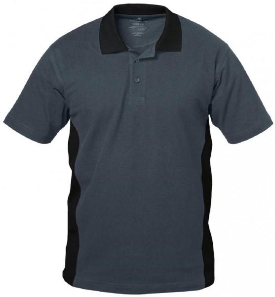Polo Shirt grau/schwarz, GRANADA