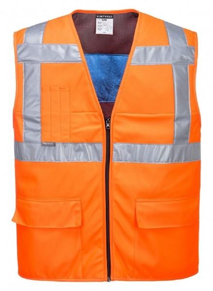 Warnschutzt-Kühlweste orange
