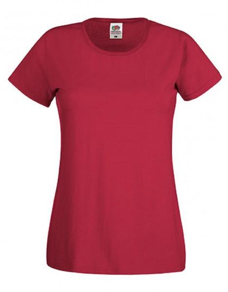 Damen T-Shirt Lady Fit: brick red