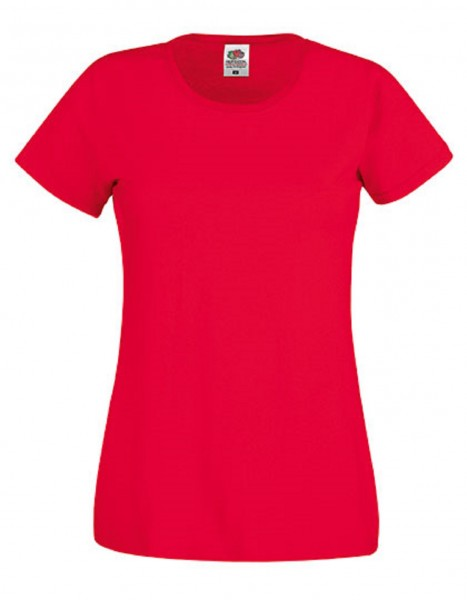 Damen T-Shirt Lady Fit: red