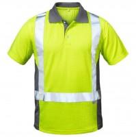 Warnschutz Poloshirt DEN HAAG, gelb/grau.