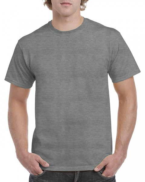 GILDAN Teavy CottonT-Shirt, graphite-heather.