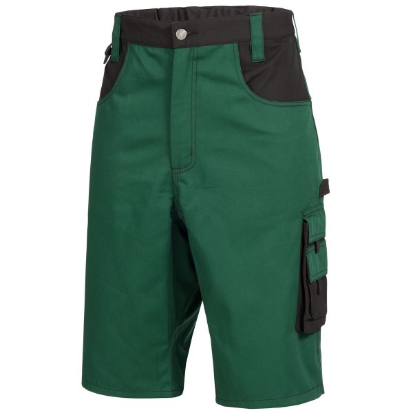 Arbeitshose kurz MOTION TEX PLUS, grün/schwarz.