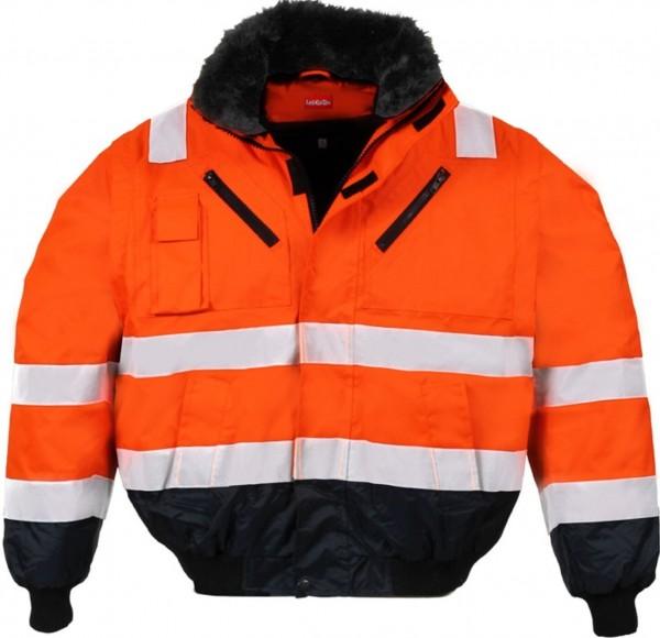 MultifunktionaleLeiKaTex Pilotenwarschutzjacke orange/marineblau