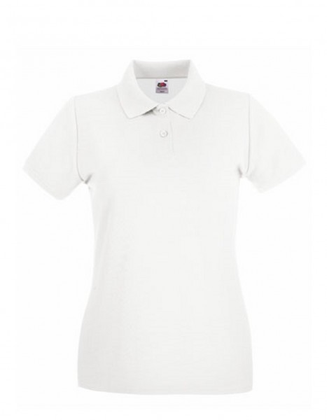 Damen Polo Lady-Fit: white