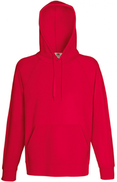 Lightweight Hooded Sweat, Red