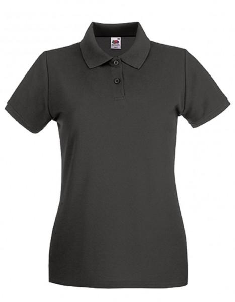 Damen Polo Lady-Fit: light graphite.