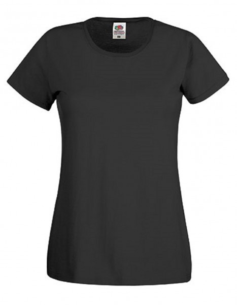 Damen T-Shirt Lady Fit: black