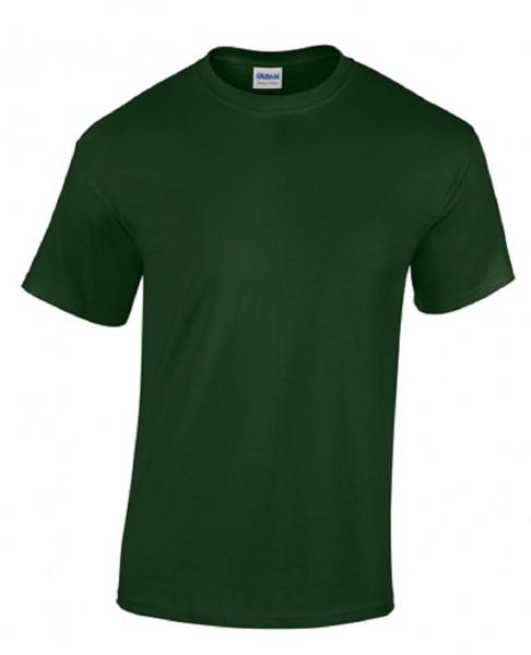GILDAN Teavy CottonT-Shirt, forest-green.