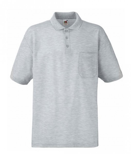 Pocket Polo F532, heather grey.