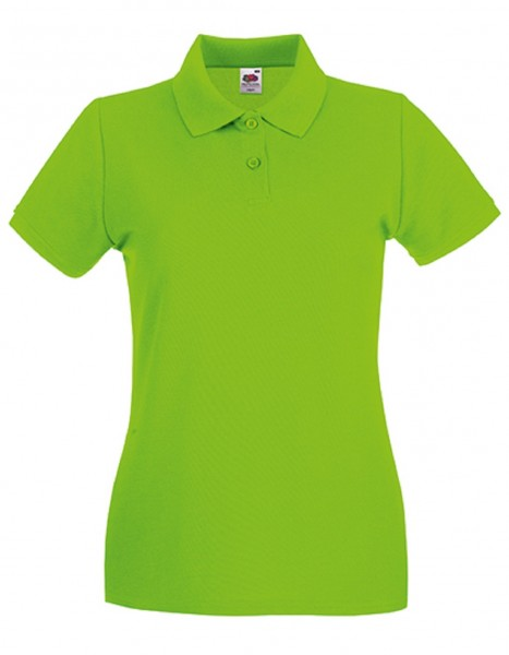 Damen Polo Lady-Fit: lime.
